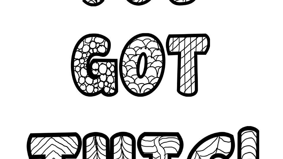Zentangle Coloring Sheet - You Got This