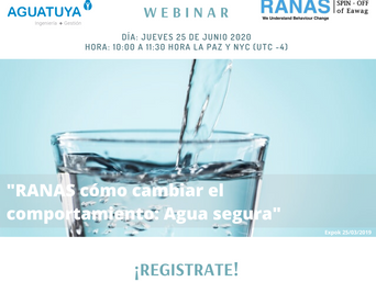 Webinar on the RANAS approach to safe water in Spanish - register now!