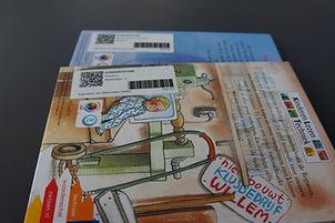 Bibliotheekboeken met barcode etiket