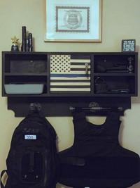 Custom locking shelf
