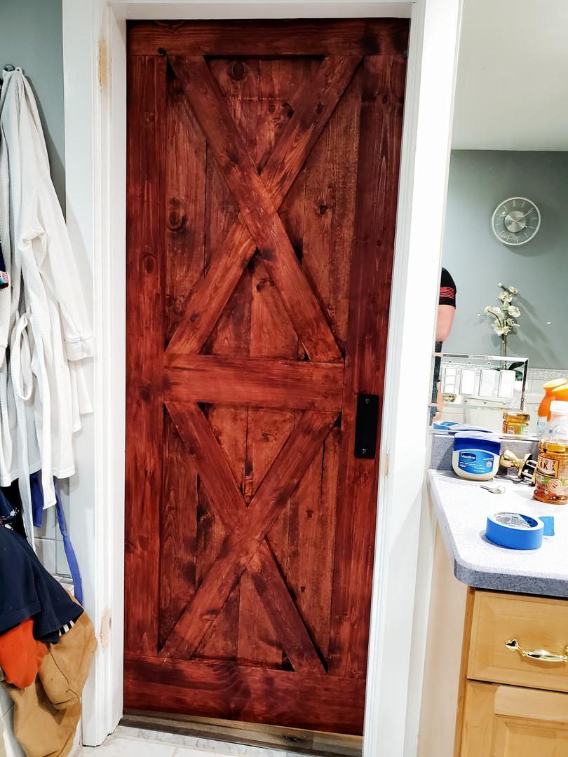 Back of barn door