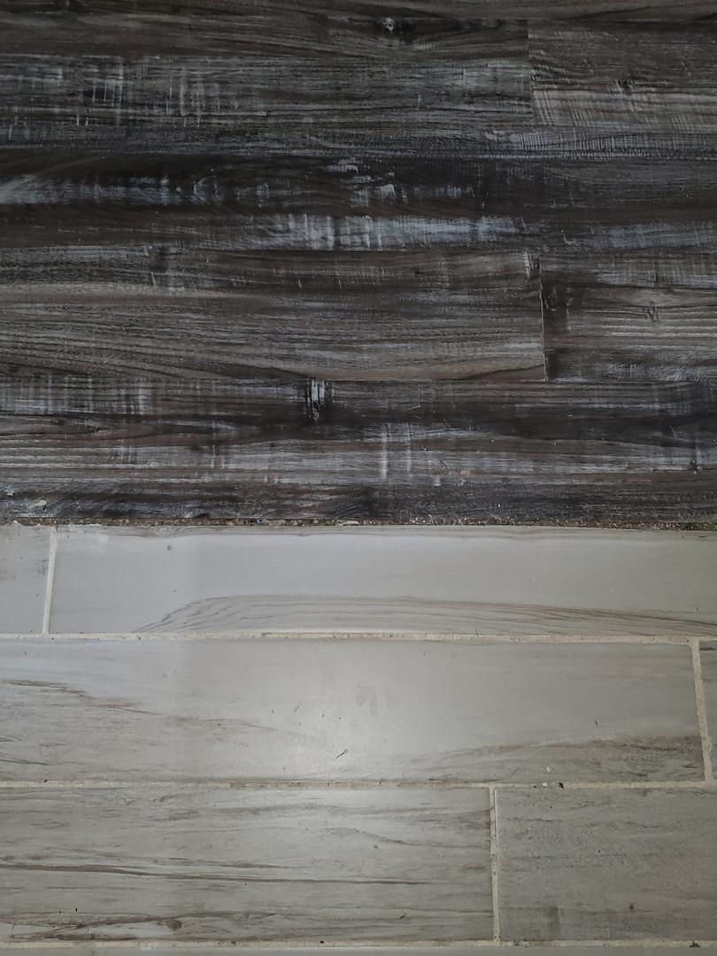 Unfinished floor transition