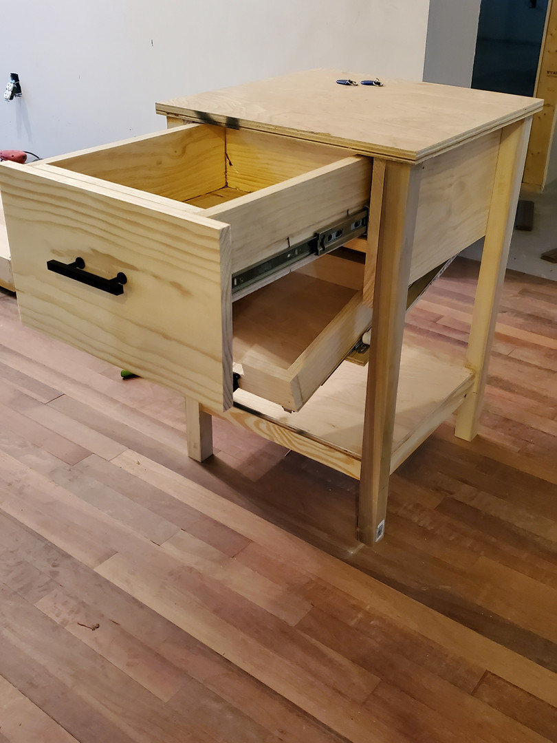 Both drawers open