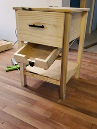 Nightstand concealment drawer