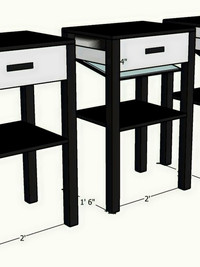 Concealed end table concept
