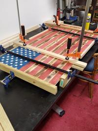 Wall flag construction