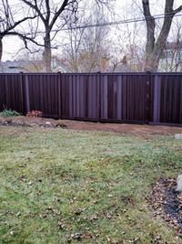 8 foot tall Trex fence