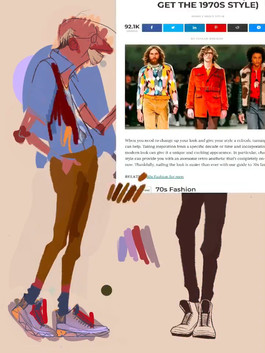 I also looked at some fashion from today that is inspired by 1970s fashion.