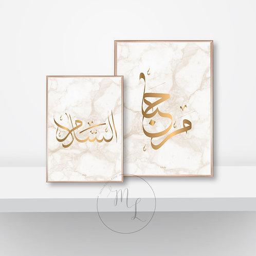 Duo Bienvenue&Paix Calligraphie