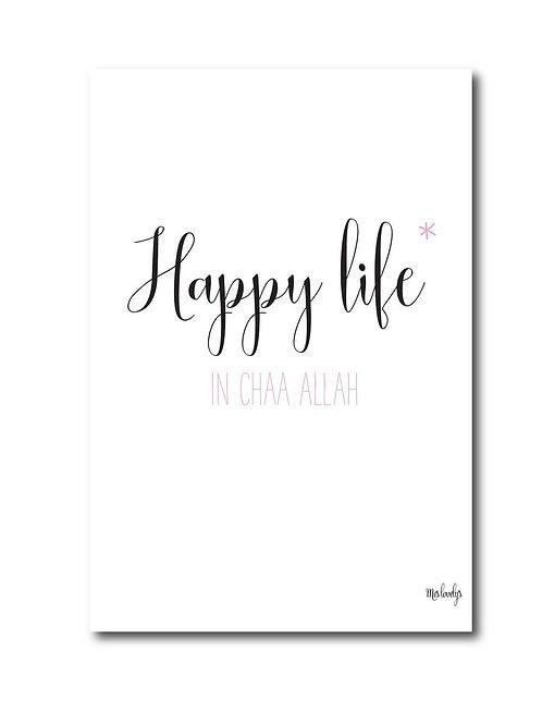 "Carte ""Happy life"""