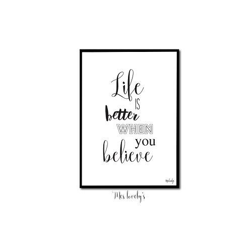 La vie est plus belle quand tu crois