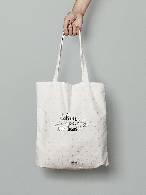 """Tote Bag """"Un salam et pleins de jolies choses pour toi"""""""