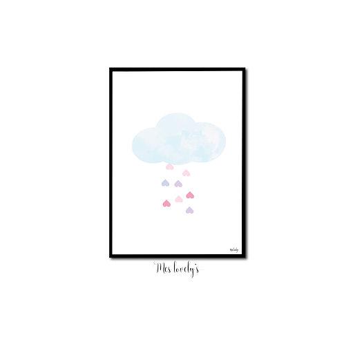 Affiche pluie d'amour