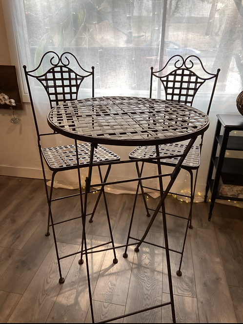 Foldable  Bar Height Chippy bistro set