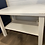 Thumbnail: Distressed white bench with shelf