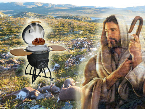 God: I Killed Those 300 Reindeer Because I Really Want Reindeer BBQ To Be A Thing
