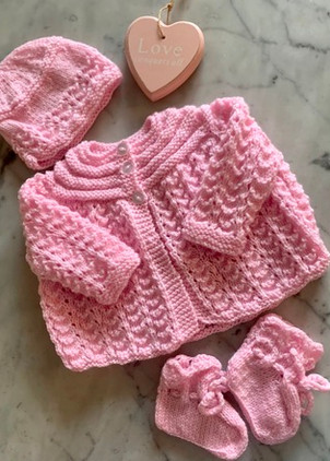 hand-knit-baby-s-matinee-coat-set-with-bonnet-booties