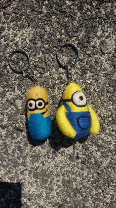 minions-key-ring-needle-felted