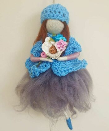 spring-needle-felted-girl-hanging-decoration