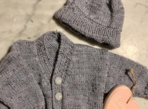 baby-cardigan-hat-set