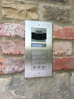 Flush mount Control4 Gate intercom
