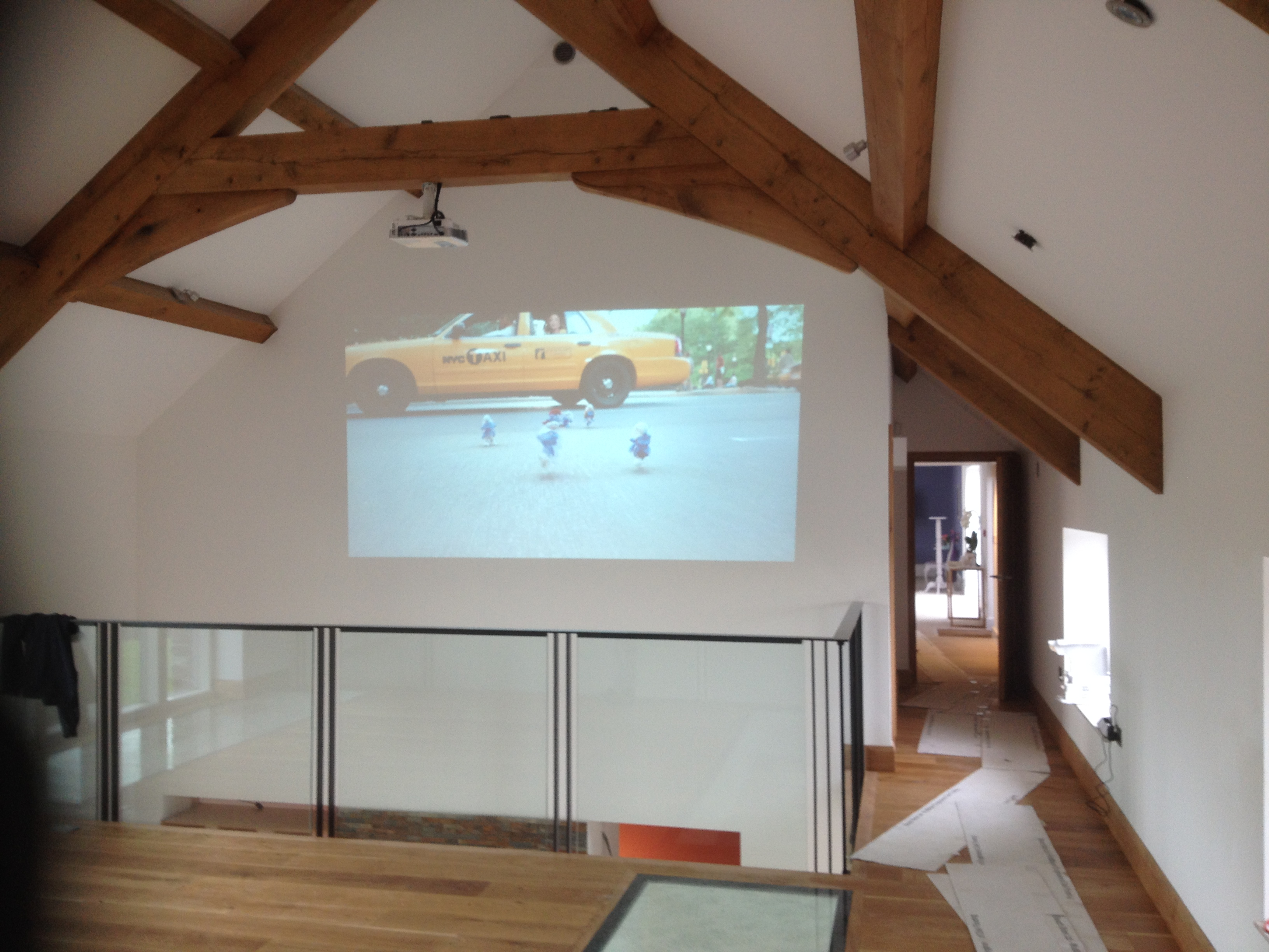 Projection Wall in Cornish Barn