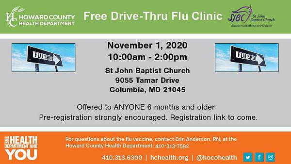 SJBC Flu Vaccine Clinic 2020 HCHD 16x9 9