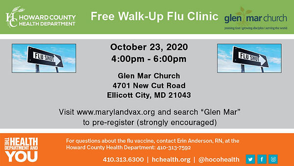 Glen Mar Flu Vaccine Clinic 2020 16x9 10
