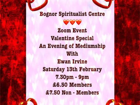 Valentines Evening of Mediumship