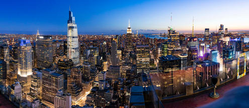 Top of The Rock Skyline View