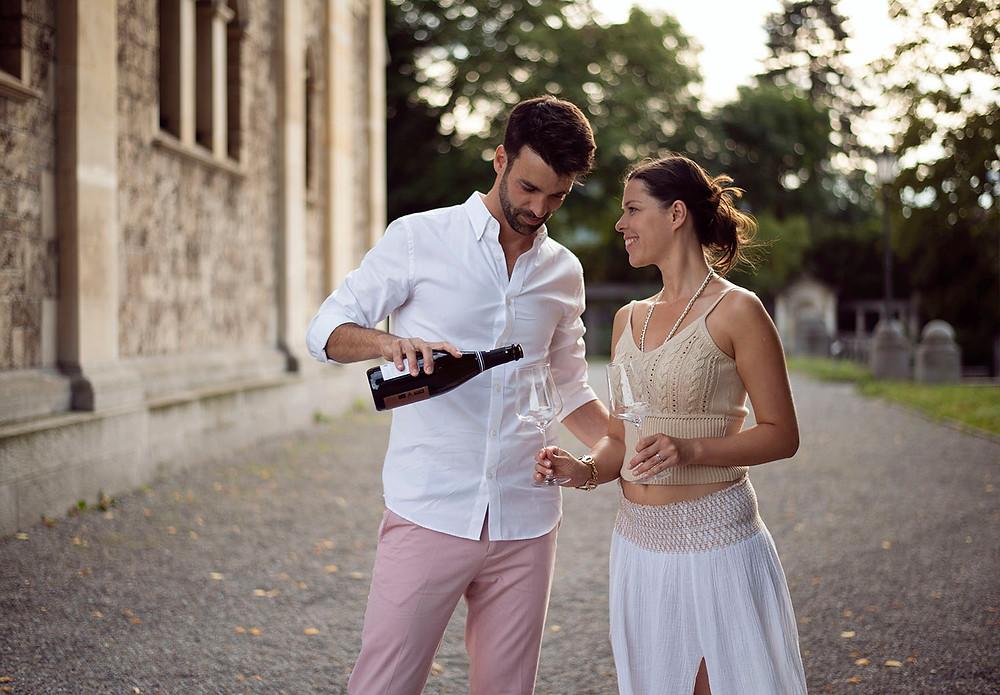 Günstige Paarfotos Zürich, Schweiz. Fotograf Hochzeit Yvo Greutert