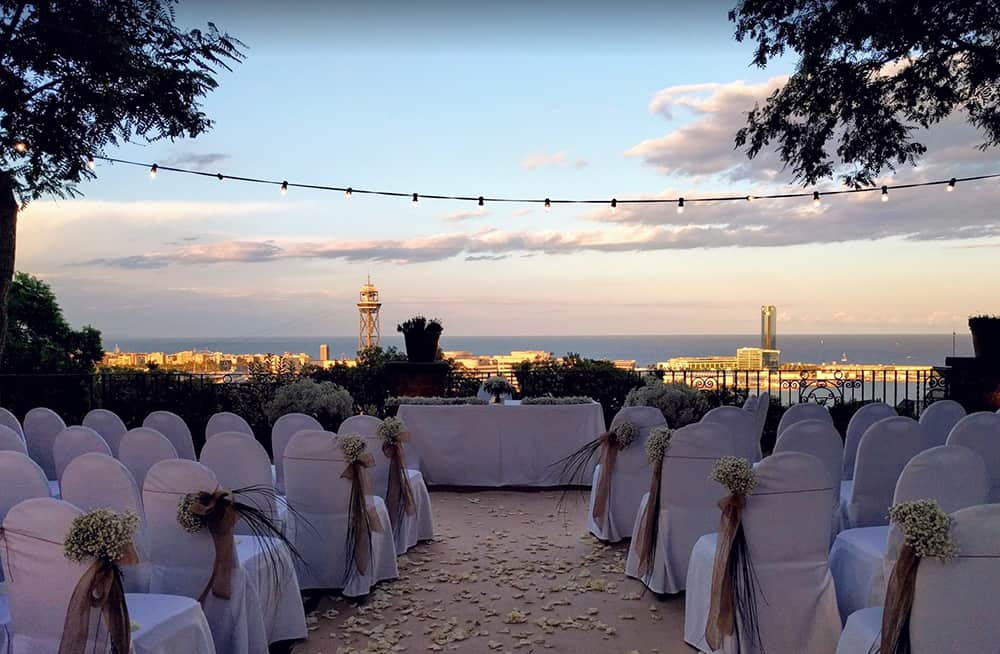 Hotel Miramar is one of the most sought after wedding locations in Barcelona. It has great views and is the perfect venue to celebrate you wedding cceremony in Barcelona.