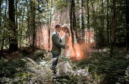 Brautpaarfoto Waldhochzeit Zuerich