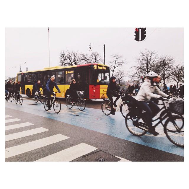 Instagram - #justanormalday in #copenhagen 🚌🚴🚴🚴