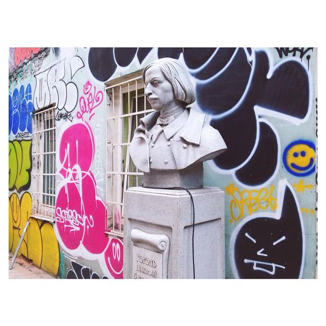 Instagram - big up #Gogol, why so sad?  #moscow #somethingbittereveryday