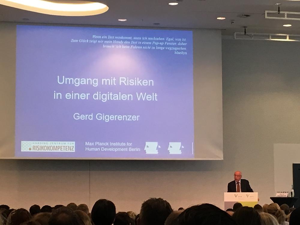 Gastvortrag von Dr. Gerd Gigerenzer_Umgang mit Risiken in einer digitalen Welt