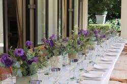 Beautiful table for the Italian feast