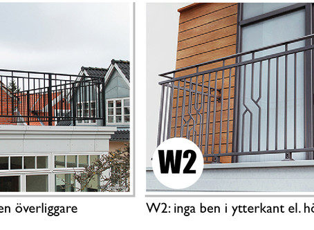 Smidesräcke för balkong, altan & veranda