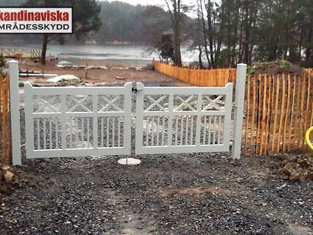 Klassiska grindar av aluminium