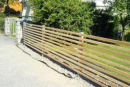 Liggande staket