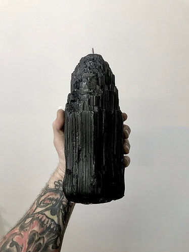 MASSIVE TOURMALINE COLUMN CANDLE