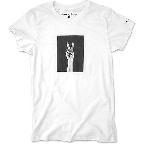Women's Peace Hand Tee - White