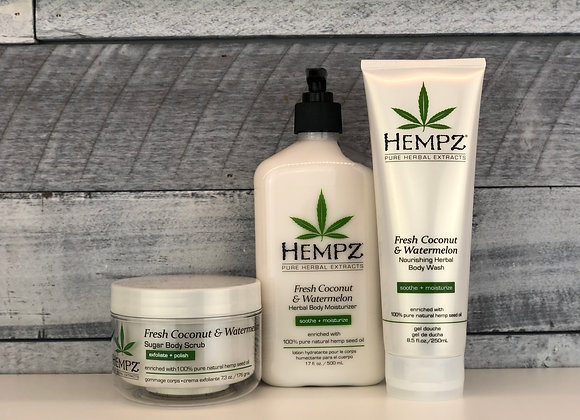 Hempz 3pc Coconut & Watermelon Self-Care Bundle
