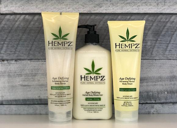 Hempz 3pc Age Defy Self-Care Bundle