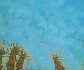Lisl Barry Sentinels-of-the-Sky - Oil on