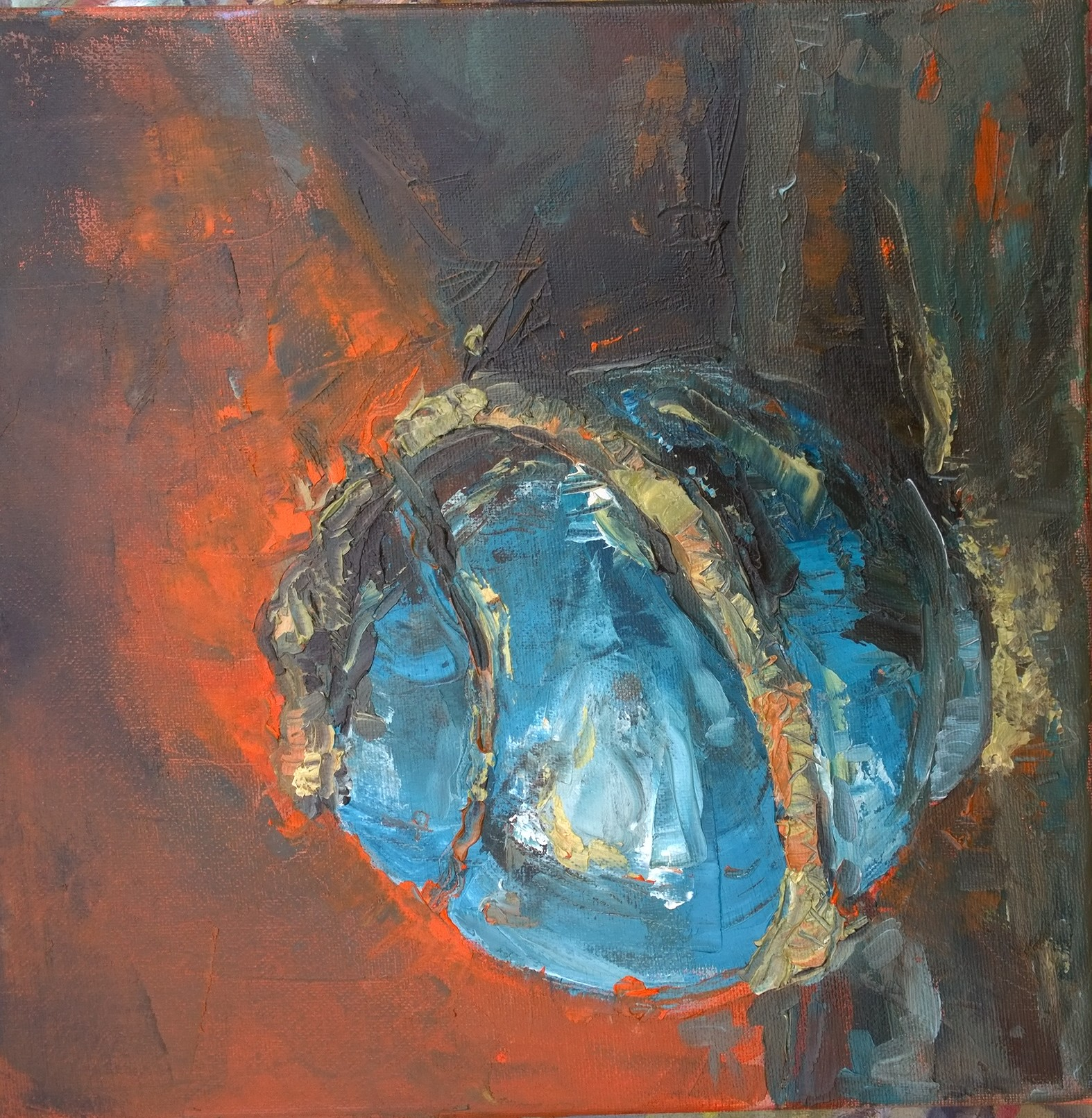 Snake Oil Jar Oil on Canvas 30x30cm