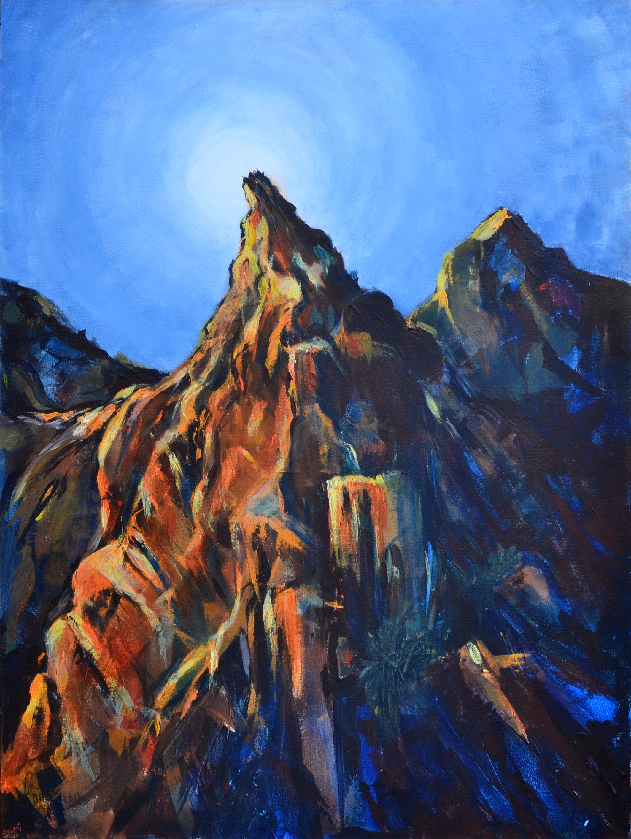 Janet Dixon- Sandstone Temple Acrylic on canvas 120x90x4cm