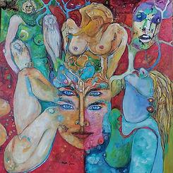 Francois Tiran - Power of a woman - Oil