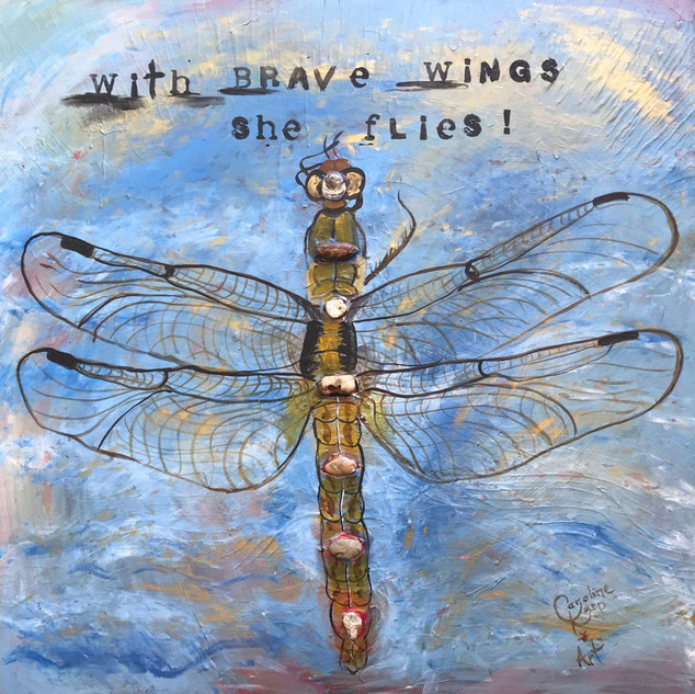 With Brave Wings She Flies