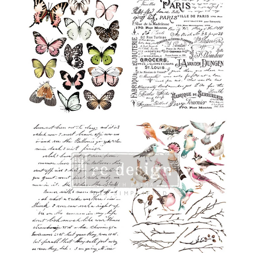 Re-Design Transfer -PARISIAN BUTTERFLIES